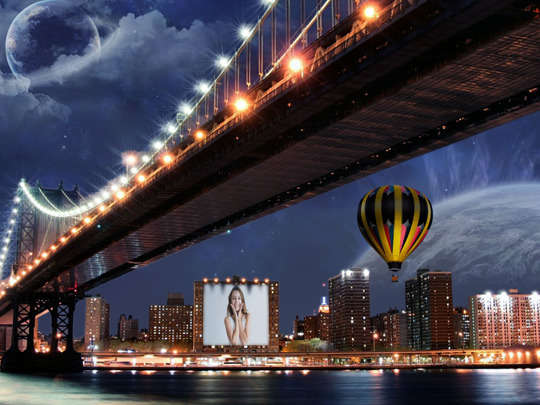 Montagem de Foto - Cidade à noite