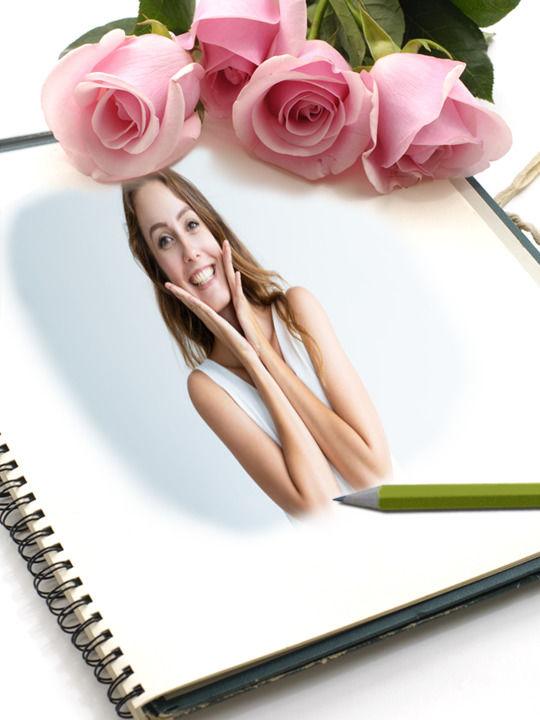 Montagem de Foto - Livro de Amor