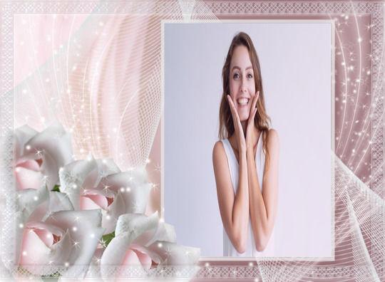 Montagem de Foto - Rosas Doces