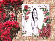 Montagem Flores vermelhas